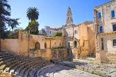 Roman theatre. Lecce. Puglia. Italy. — Stock Photo