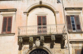De Rinaldis Palace. Lecce. Puglia. Italy. — Stock Photo