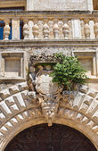 Risolo-Palast. Specchia. Puglia. Italien. — Stockfoto