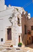 小巷。ceglie messapica。普利亚大区。意大利. — 图库照片