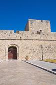 Angevine swabian castle. manfredonia. puglia. i̇talya. — Stok fotoğraf