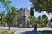 Angevine-swabian castillo. manfredonia. puglia. italia. — Foto de Stock