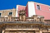 Palácio histórico. conversano. puglia. itália. — Foto Stock