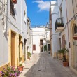 Alleyway. Mesagne. Puglia. Italy. — Stock Photo