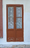 Wooden door. Mesagne. Puglia. Italy. — Stock Photo
