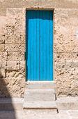 Wooden door. Manduria. Puglia. Italy. — Stock Photo