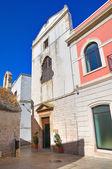 Iglesia de santa chiara. noci. puglia. italia. — Foto de Stock