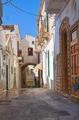 Alleyway. Pisticci. Basilicata. Italy. — Stock Photo