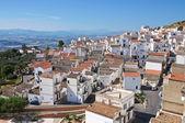 Panoramic view of Pisticci. Basilicata. Italy. — Stock Photo