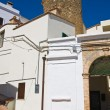 Постер, плакат: Bruni Tower Alleyway Pisticci Basilicata Italy