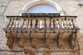 Taberini palace. Mesagne. Puglia. Italy. — Stock Photo