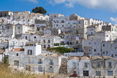 Panoramic view of Monte Sant'Angelo. Puglia. Italy. — Stock fotografie