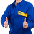 Stock Photo: Blue collar worker.