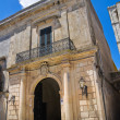 Episcopo palace. Poggiardo. Puglia. Italy. — Stock Photo