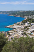Panoramic view of Castro. Puglia. Italy. — Foto de Stock