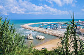 Vista panoramica di rodi garganico. puglia. italia. — Foto Stock