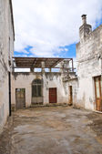 Alleyway. Presicce. Puglia. Italy. — Stock Photo