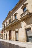 Alberti palace. Presicce. Puglia. Italy. — Stock Photo