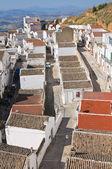 Panoramiczny widok pisticci. basilicata. włochy. — Zdjęcie stockowe