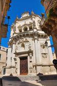 Kostel svatého matteo. lecce. puglia. itálie. — Stock fotografie