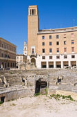 Amphitheatre. Lecce. Puglia. Italy. — Stock Photo