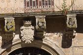 De rinaldis paleis. Lecce. Puglia. Italië. — Stockfoto