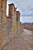 Замок vigoleno. Эмилия-Романья. Италия. — Стоковое фото