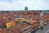Panoramic view of Ferrara. Emilia-Romagna. Italy. — Stock Photo