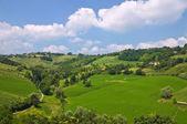 Panoramic view of Torrechiara. Emilia-Romagna. Italy. — Stock Photo