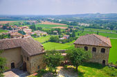 Castle of Torrechiara. Emilia-Romagna. Italy. — Stock Photo