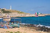 Vue panoramique de santa maria di leuca. Puglia. Italie. — Photo