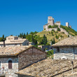 Panoramic view of Assisi. Umbria. Italy. — Stock Photo