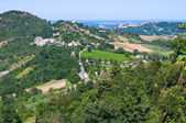 View from castle of Montebello. Emilia- Romagna. Italy. — Stock Photo