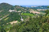 View from castle of Montebello. Emilia- Romagna. Italy. — Stock Photo