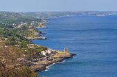 Panoramic view of Tiggiano. Puglia. Italy. — Stock Photo