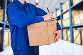 Delivery man. — Zdjęcie stockowe