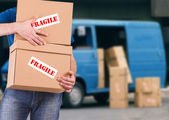 Delivery man. — Stock Photo