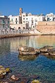 Fortified wall. Monopoli. Puglia. Italy. — Stok fotoğraf