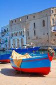 Old port. Monopoli. Puglia. Italy. — Stock Photo