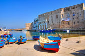 Old port. Monopoli. Puglia. Italy. — Foto Stock