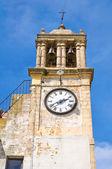 Clocktower. Montescaglioso. Basilicata. Italy. — Stock Photo