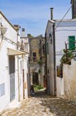 Alleyway. Montescaglioso. Basilicata. Italy. — Stock Photo