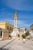 War memorial. Montescaglioso. Basilicata. Italy. — Stock Photo
