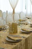 Tavolo apparecchiato per un partito di evento. — Foto Stock