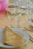 Table set for an event party. — Stock Photo
