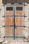 Wooden door. Altamura. Puglia. Italy. — Stock Photo