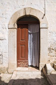 Wooden door. Minervino Murge. Puglia. Italy. — 图库照片