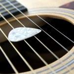 Plectrum on strings — Stock Photo #29111893