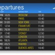 Stock Photo: Airport time Departure table illustration design over white