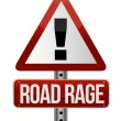 Road traffic sign with a road rage concept — Stock Photo